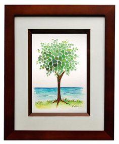 Sea Glass Tree 8x10 Frame by RachelDrakeStudio on Etsy,