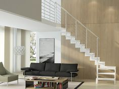 Trasforma Design reinvents the indoor wooden staircase, modernizing it thanks to the mix of quality of materials and modular design.