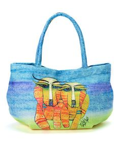 Look what I found on #zulily! Yellow & Purple Striped Puppies Bubble Tote by Albena, $20 !!  #zulilyfinds