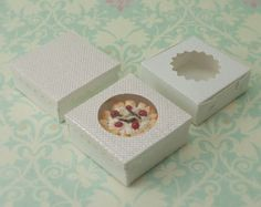 Miniature Dessert Boxes White by true2scale on Etsy