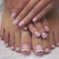 french nails lace Hairstyles (With images) Gorgeous Nails, Love Nails, Pretty Nails, My Nails, French Pedicure, French Tip Nails, Manicure And Pedicure, Mani Pedi, French Toes