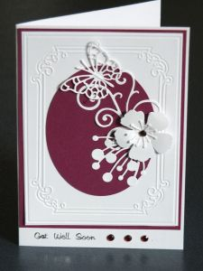 Handcrafted get well card