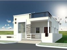 Flooring Front Elevation Designs Single Home.Home Front Elevation House Plan Designs Modern Box . South Indian House Front Elevation Designs And Plans Of 2 . Pin By Sreekanth Sasidharan On Inspiration: Architecture . House Front Wall Design, House Outer Design, Single Floor House Design, Village House Design, Simple House Design, Minimalist House Design, Modern House Design, Home Design, Interior Design