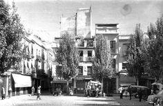 Plaza del Salvador en Sevilla en 1933 .