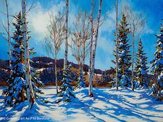 David Langevin - 'Still Winter' Painting Snow, Winter Painting, Winter Art, Landscape Pictures, Landscape Art, Landscape Paintings, Oil Paintings, Canadian Painters, Canadian Artists