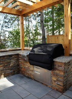 Backyard Patios Design Grilling area. I want this! !!