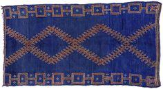 Vintage Moroccan Oriental Rug 5 x 11