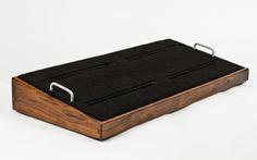 Custom Walnut Pedal Board Diy Pedalboard, Guitar Pedal Board, Guitar Pedals, Wood Ideas, Jaguar, Guitars, Instruments, Electric, Boards