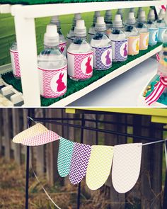 Colorful Easter Bunny Birthday Party // Hostess with the Mostess®