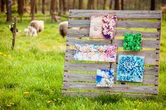 Kleine Timberprint paneeltjes in de natuur. www.timberprint.nl #fotoophout #whitewash #collage