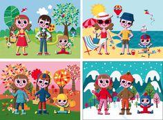 Gwe Illustration - 4 Seasons