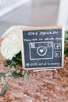 Clever idea from my friend's wedding