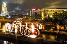 Fire Dancer performs during Waterfire