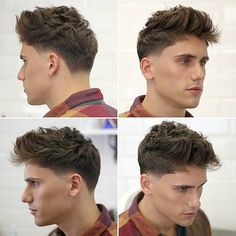 These are the latest new men's haircuts and men's hairstyles for you to get in Pick out a brand new style for your hair and update your look. Medium Hair Cuts, Short Hair Cuts, Medium Hair Styles, Curly Hair Styles, Men Hairstyle Names, Cool Hairstyles, Men Curly Hairstyles, Hairstyles Pictures, Popular Mens Haircuts