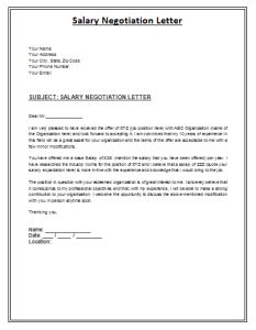 salary negoitation letter