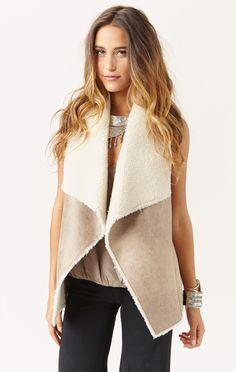 faux fur vest by VELVET