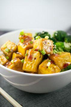 Baked Orange Tofu | Yup, it's Vegan