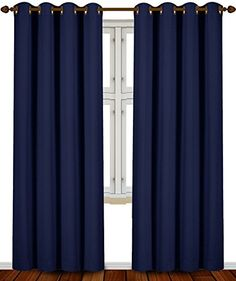 Utopia Bedding Thermal Insulated Blackout Curtains Set Of 2 Panels 7 Back Loops Per Panel Tie Included Standard Length 52 Width X 63