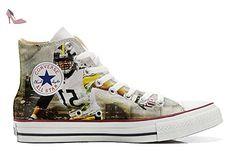Converse Customized Chaussures Personnalisé et imprimés UNISEX (produit artisanal) Football Americano - size EU34 - Chaussures mys (*Partner-Link)