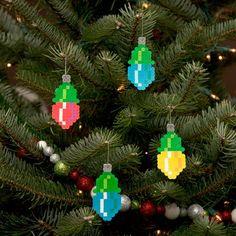 hama beads light ornament