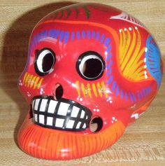 Mexican Ceramic Talavera Day of the Dead Sugar Candy Skull Dia De Los Muertos