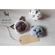 Cute Needle felting wool cats (Via @kristina_drozd)