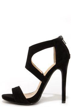 Twirl-wind Black Suede Dress Sandals at Lulus.com!
