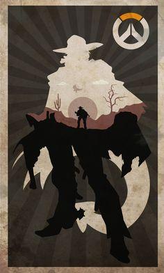 poster ovewatch (MCCREE) fan art