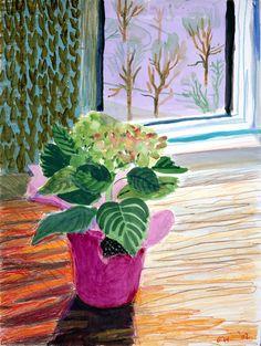 (UK) iPad digital work by David Hockney ). David Hockney Artist, David Hockney Paintings, Flower Vases, Flower Art, Pop Art Movement, Ipad Art, Abstract Nature, Painting For Kids, Botanical Art