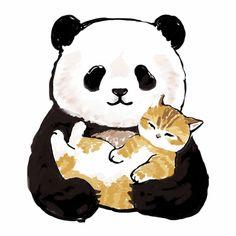 Cute Little Kittens, Cute Cats, Cute Cartoon, Cartoon Pics, Baby Animals, Cute Animals, Kitten Drawing, Panda Wallpapers, Cute Animal Drawings Kawaii