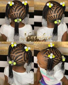 Little Girl Braid Styles, Little Girl Braid Hairstyles, Kid Braid Styles, Little Girl Braids, Girls Natural Hairstyles, Baby Girl Hairstyles, Kids Braided Hairstyles, Braids For Kids, African Braids Hairstyles