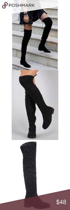 ✨Restocked✨Over The Knee Boots  LIMITED  SIZES OUR BEST SELLER ❤️️ BLACK FAUX SUEDE OVER THE KNEE BOOTS WILL SHIP 1/20/17 !! Price Is Firm Unless Bundled  Shoes Over the Knee Boots