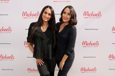 Brie Bella Photos Photos - WWE superstars Nikki Bella and Brie Bella behind the scenes of Making with Michaels on October 31, 2016 in Los Angeles, California. - Behind the Scenes: Making with Michaels