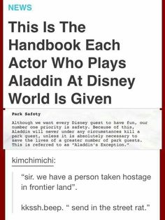 What the hell! Need to be careful around Aladin from now on