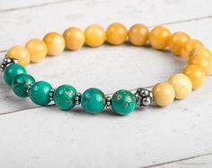 Power Bracelet Yellow Jade Bracelet Energy by TribeAzureFairTrade