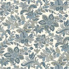 Corsini Paisley | 5004072 in Porcelain | Schumacher Wallcovering