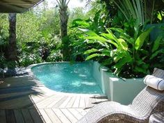 Private yard and pool.