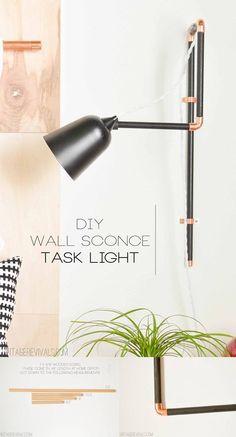 Lámpara de pared articulada DIY
