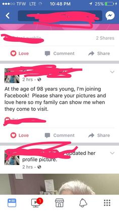 My 98 Year old Granny's Caretaker Made Her a Facebook http://ift.tt/2wElUAz