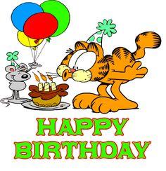 Animação Garfield Happy Birthday #felicidades #feliz_aniversario #parabens