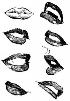 lips ✤ || CHARACTER DESIGN REFERENCES | Find more at https://www.facebook.com/CharacterDesignReferences if you're looking for: #line #art #character #design #model #sheet #illustration #expressions #best #concept #animation #drawing #archive #library #reference #anatomy #traditional #draw #development #artist #pose #settei #gestures #how #to #tutorial #conceptart #modelsheet #cartoon