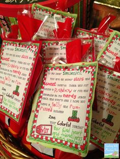 Student teacher gifts to give students for christmas