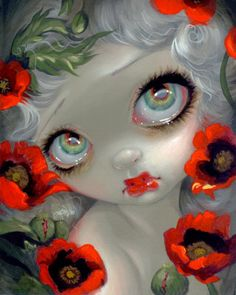 Poisonous Beauties III: Opium Poppy by Jasmine Becket-Griffith