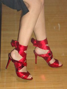 Guess by Marciano red satin dress shoes - $80.00