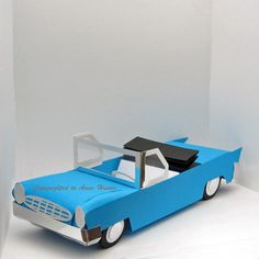 3D American Style 1950's Car