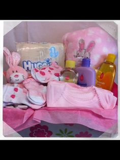 Baby girl gift set £40  Facebook - Heart hampers and gifts