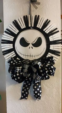 Nightmare Before Christmas Jack Skellington by VicksWreathsnThings