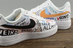 "Pauly Vlone X Nike Air Force 1 Low White ""Mase"" Custom Graffiti Harlem f468d4a61"
