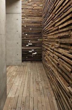 wood and concreta