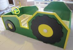 John Deere Inspired Kid's Tractor Bed by FineNestFurnishings on Etsy, $1425.00